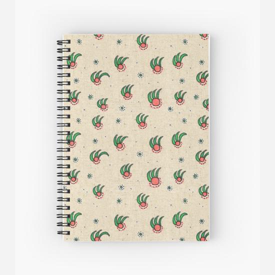 pineapple spiral notebook