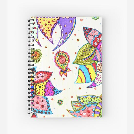 pinku spiral notebook