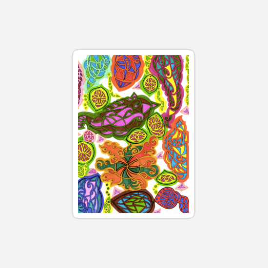 aubergine stickers