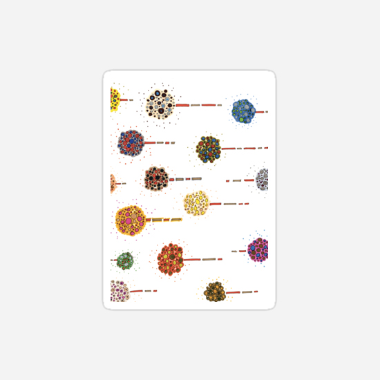 sea holly stickers