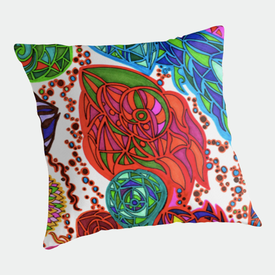 gaudi in january throw pillow