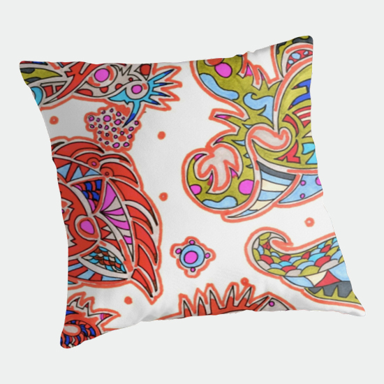 orengi throw pillow