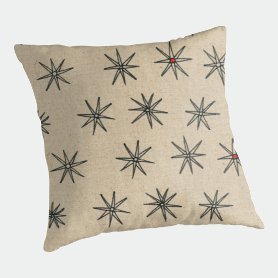 red dot throw pillow