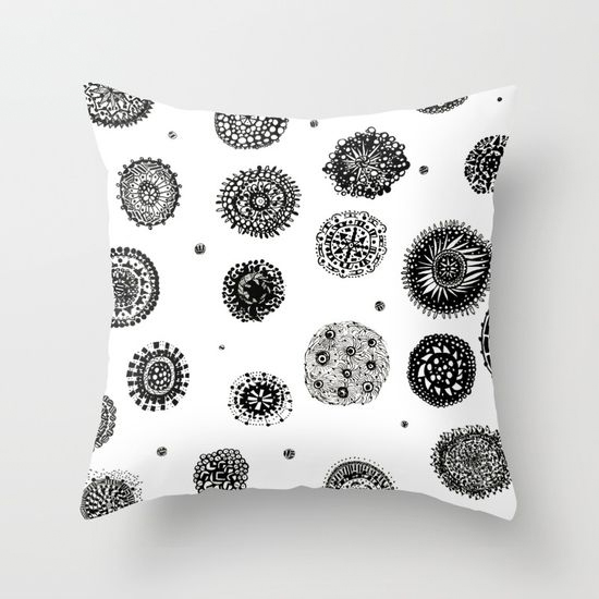 september snow throw pillow