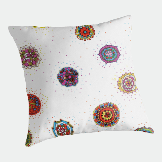 snap dragon throw pillow