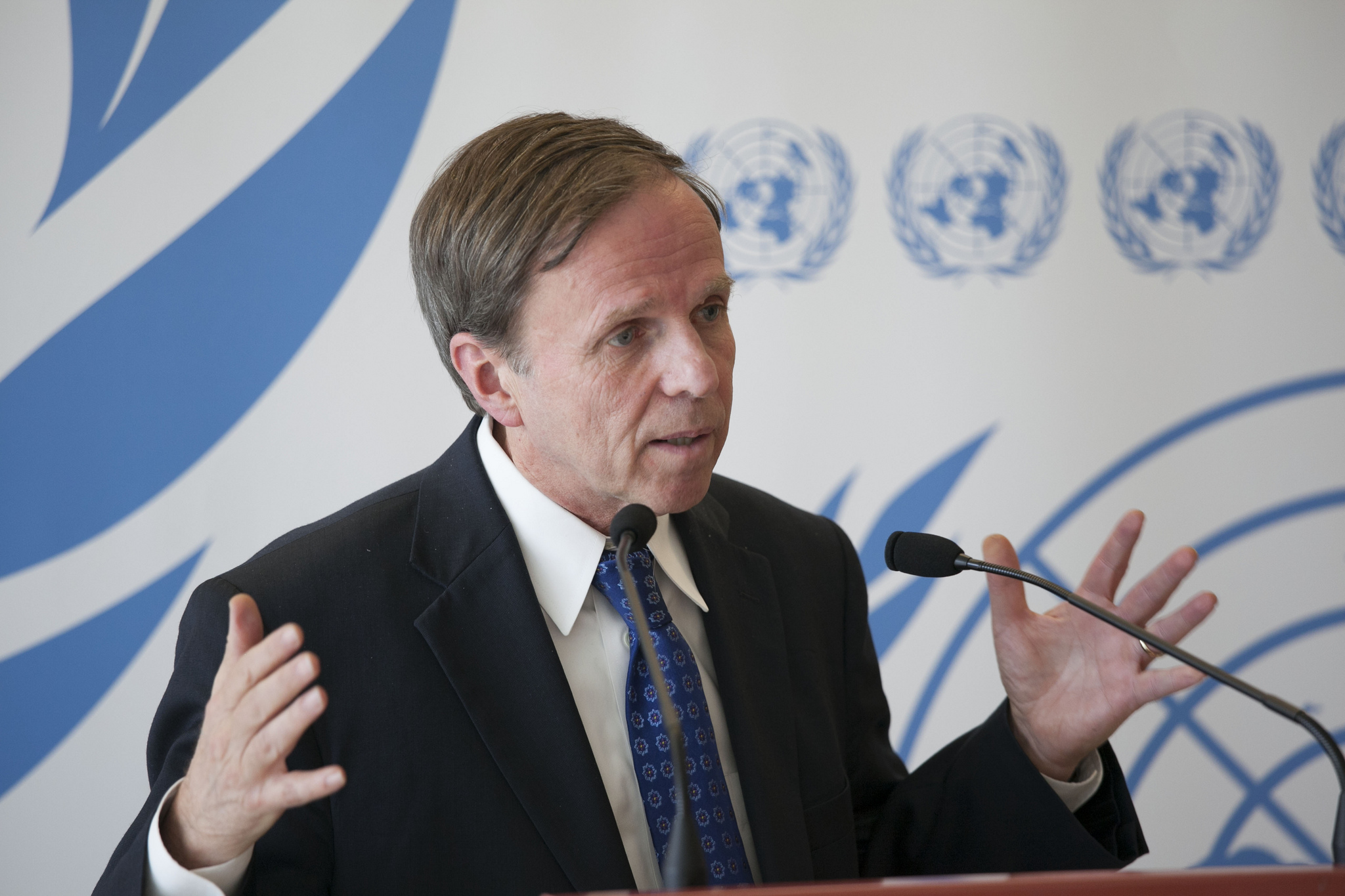 Michael Posner speaking at the UN Human Rights Council in 2012.