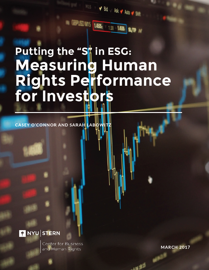The paper outlines how to improve measurement of companies' social    (labor and other human rights) performance