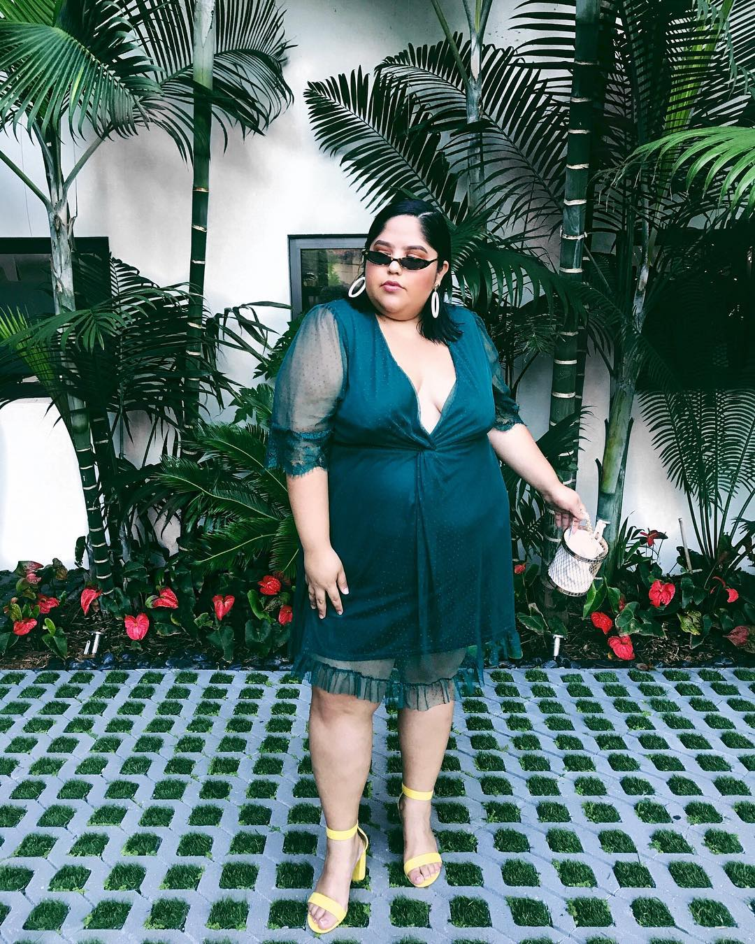 """Jessica Torres    @thisisjessicatorres  is a Bronx-based style blogger. She co-hosts the podcast, Fat Girls Club, where she talks with fashion designer Liesl Binx about everyday experiences as plus-size women. She's partnered with Fohr on Bobbi Brown and First Aid Beauty.  In her words: """"Before I became comfortable with my body I hated the word 'Fat.'It was the biggest insult I could hear. I always say that the way you speak about yourself in front of others is the way people learn to treat you. So I took the word fat back used it to empower my body and to take away the negative connotations away from it."""""""