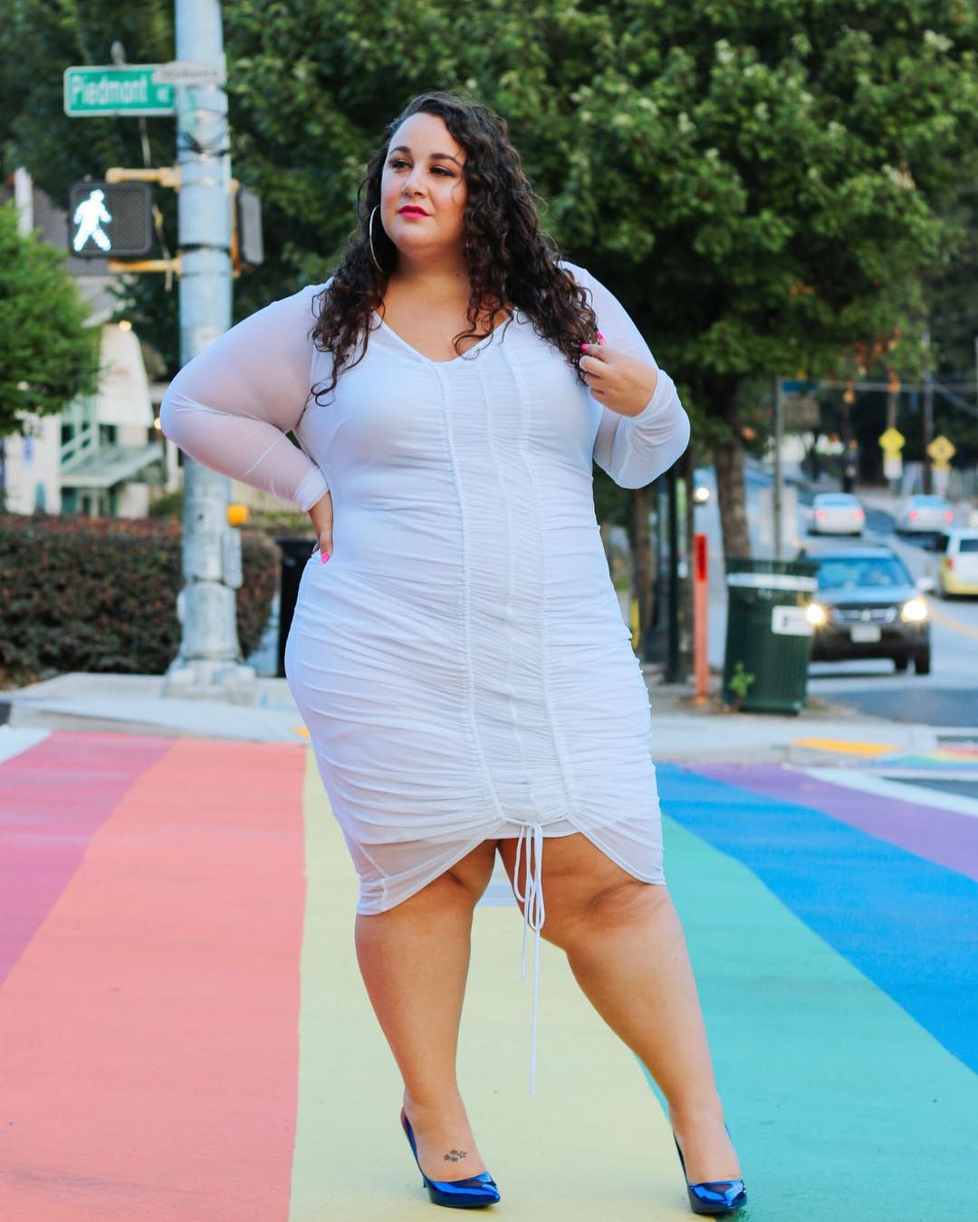Alysse Dalessandro   is a queer plus size fashion blogger based in Cleveland, Ohio. Her passion for social change drives much of her content.