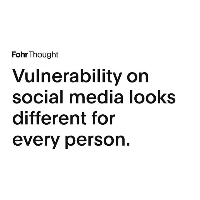 The case for being vulnerable is that by opening yourself up, you realize that other people have been through the same thing. By sharing your experiences, you can start to build a community around you that also share those experiences or feel a certain amount of empathy for you about them. That being said, vulnerability comes in different degrees. What it looks like for one person may not be the same for you or your platform. ⠀⠀⠀⠀⠀⠀⠀⠀⠀ Peeling back the layers, and showing your audience a little bit behind the curtain of who you are, is not necessarily something that happens all at once. The process can be unrolled gradually over months or even years. Start slow and if it doesn't feel natural, or if it doesn't make you happy, or it's not helping you in any way, then stop doing it. Each account is different, each life is different, and it's best to do what works for you.