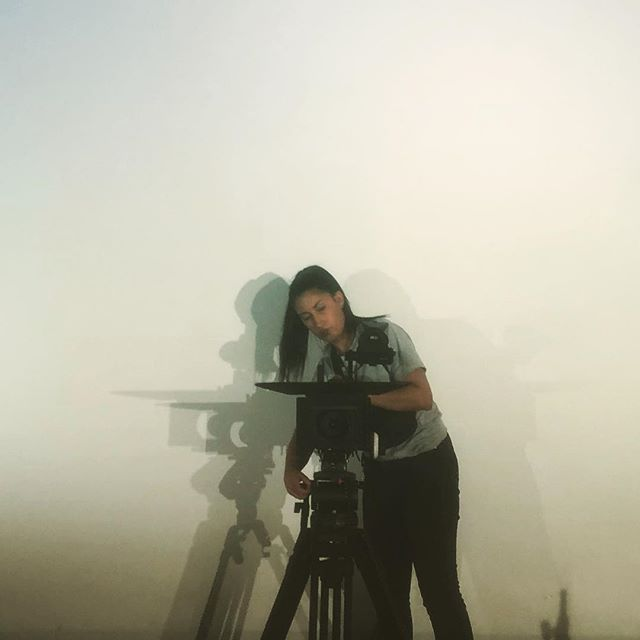 Acclaimed cinemarector of diretography @iamdebij casting shadows on set.