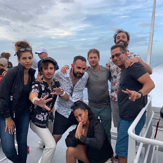 Crew photo right after our wild Bimini shoot this week. We wrestled with the weather gods and won. Shoutout to our awesome client, our distinguished talent and the folks here who made it possible. 🌴