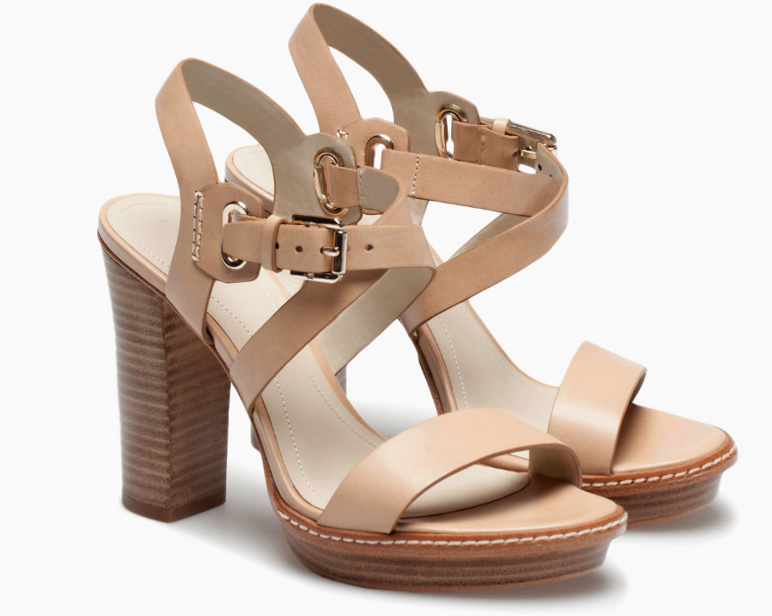Nude High Heel Sandal £89.99  - not pretending I could walk much in them, but would be so perfect with almost any denim this Spring.