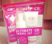 This is the cute travel kit I bought online and then used the clear plastic bag for all my travel liquids after.