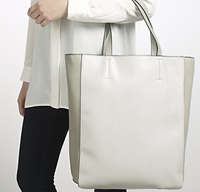 John Lewis Eden Tote Bag -£39 in grey and navy. Even has zip pocket and phone pocket inside to avoid the black hole conundrum some of these bags can present!