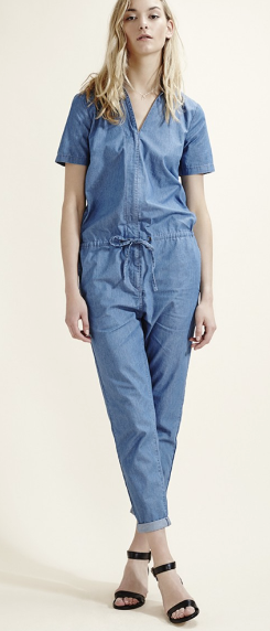 Selected Femme Blue Denim Jumpsuit £75  Simple scandistyle here. Equally easy to dress down for daytime with flats and tote.