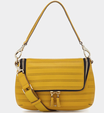Anya Hindmarch Perforated Mustard Maxi Zip Cross Body £297