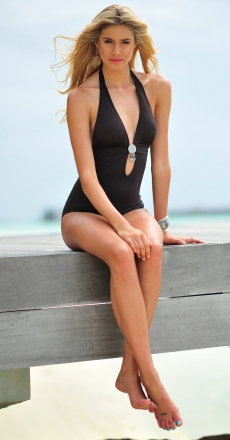 Banana Moon Swamis Chocolat Dreamy Halter Swimsuit £76