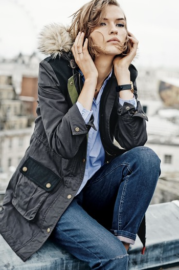 Boden Padworth Parka £161.10 available in navy and brown