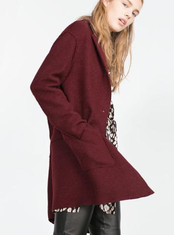 Zara Wool Coat £59.99