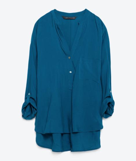 Mao Collar Blouse £12.99 Zara