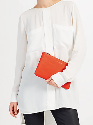 Leather Slogan Pouch at John Lewis £39