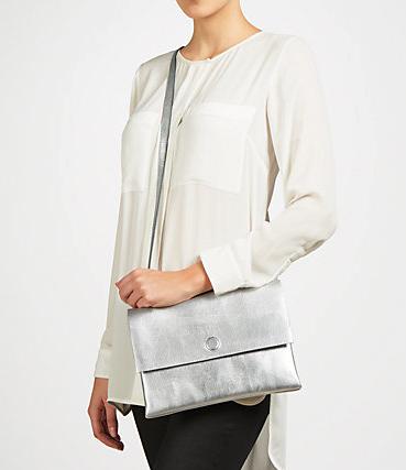 Kin Across Body Bag in silver £59