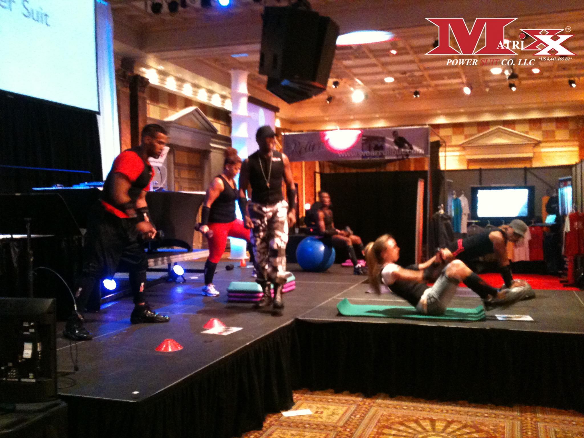 Matrixx Boot Camp at Sweat AC fitness show 2012