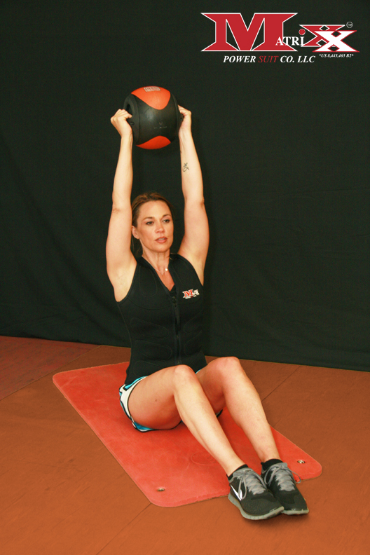 Sit ups w Weighted Ball