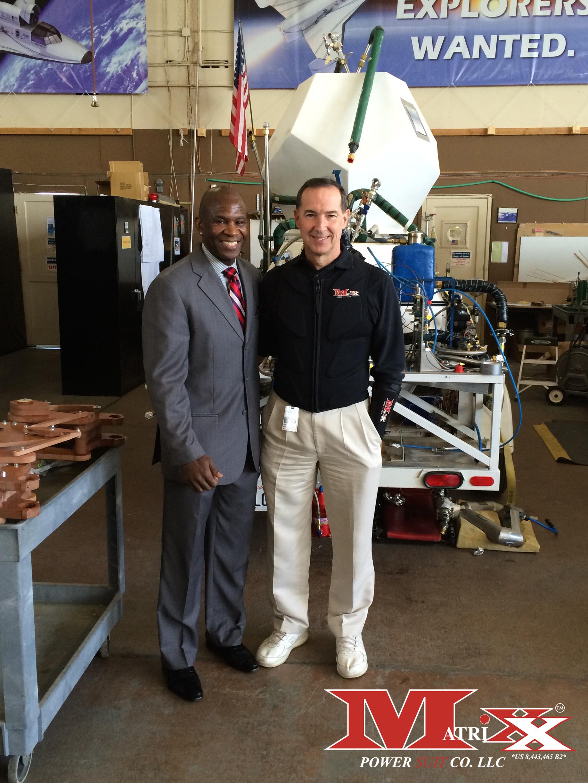 Calvin w Test Pilot Brian Binnie @ XCOR Aerospace 10-11-14