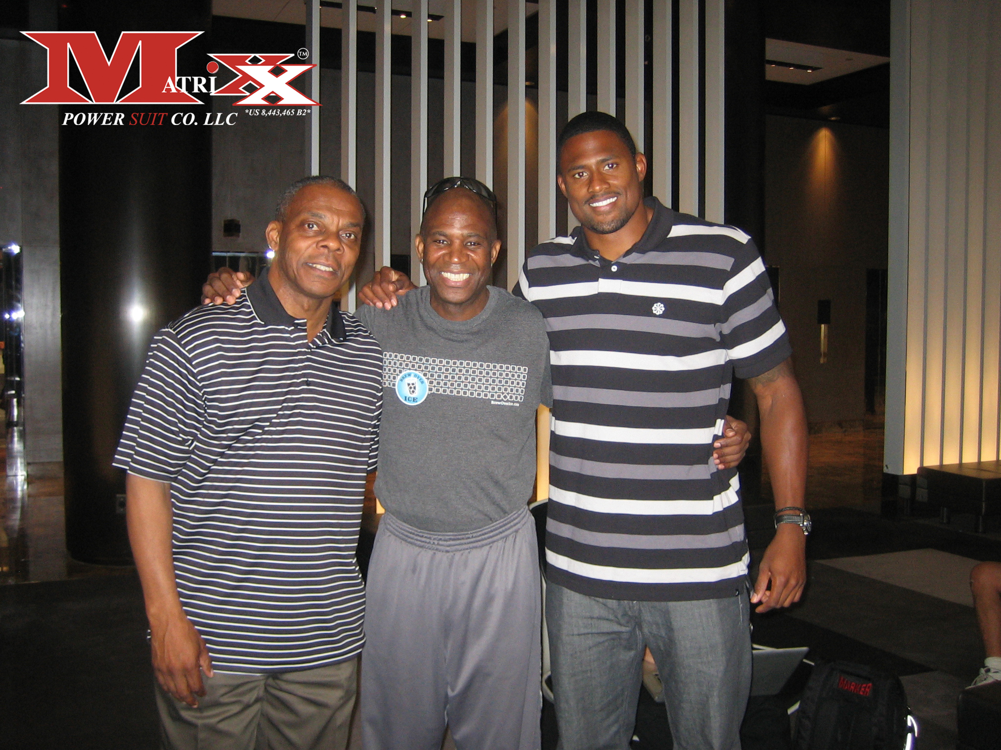 Calvin w Sports Agent Tony Campbell & Olympic Runner David Oliver 2012