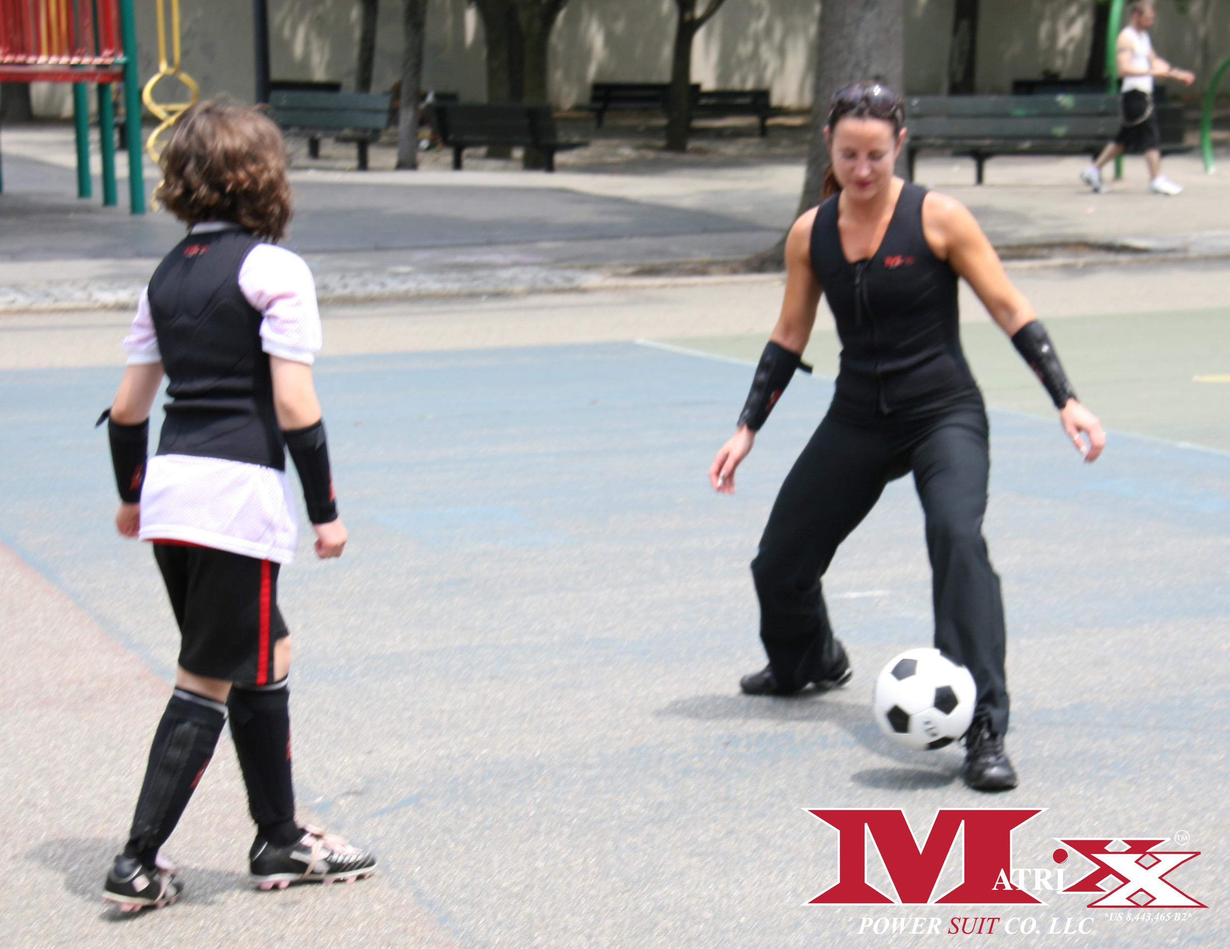Soccer practice w Mom