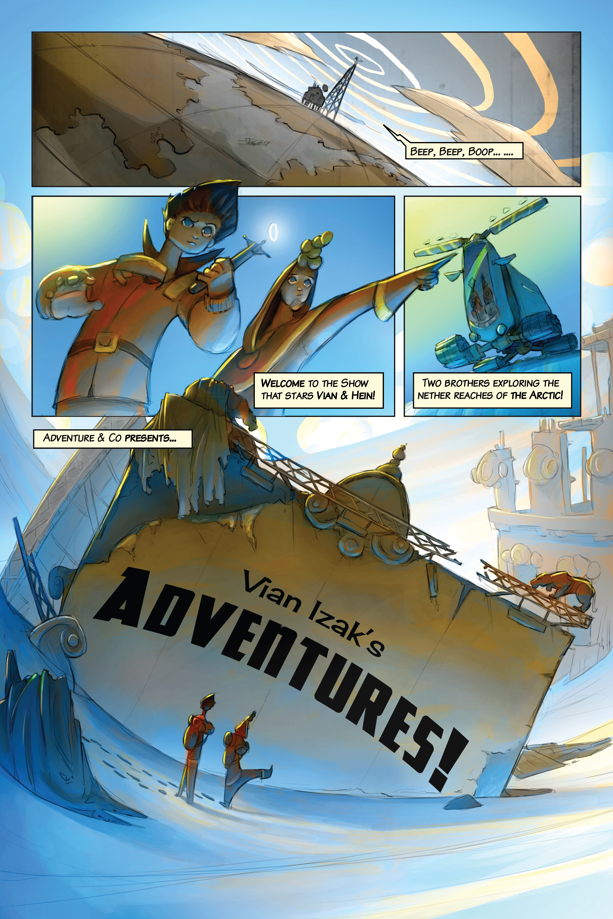 The first page of Vian Izak's Adventures!