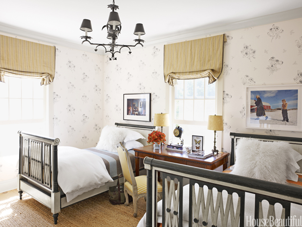 Funky twin beds!
