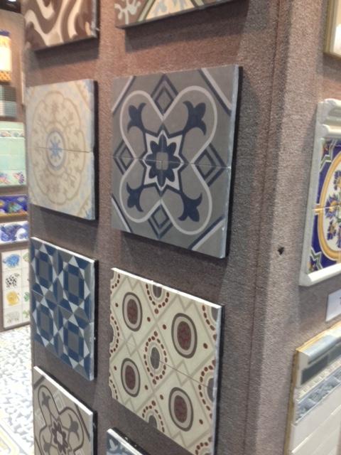 Cuban art influence seen in these tiles.