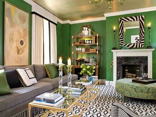 Ben Moore's Bunker Hill Green fits in well in a Boston Brownstone, a Palm Beach Cabana or a Malibu bunk room!