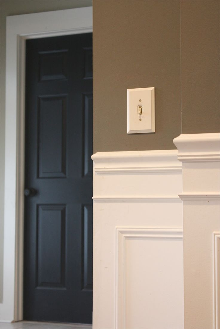 This is easy to do. Often the door is painted the same color as the trim. Here it is the opposite. Results are stunning!