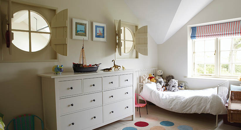 Farrow and Ball  has incredible paint. The color saturation is rich and deep, even in their neutrals. In this room the walls are Slipper Satin  and the trim is a creamy Off White.
