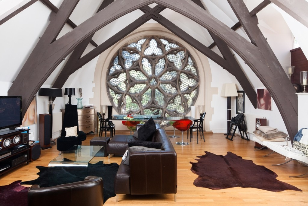 Fancy living in this old church!