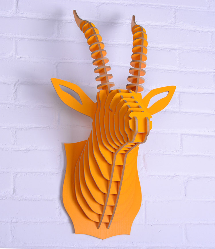 Like the idea of a mount on the wall, but not the real thing?  Here you go!  Comes in lots of colors, too.