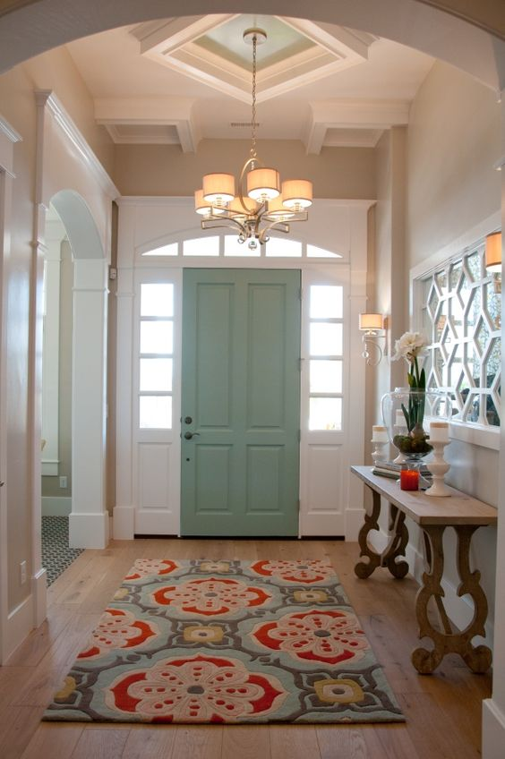 Entryways are a great (and often underused) place for a real statement rug.