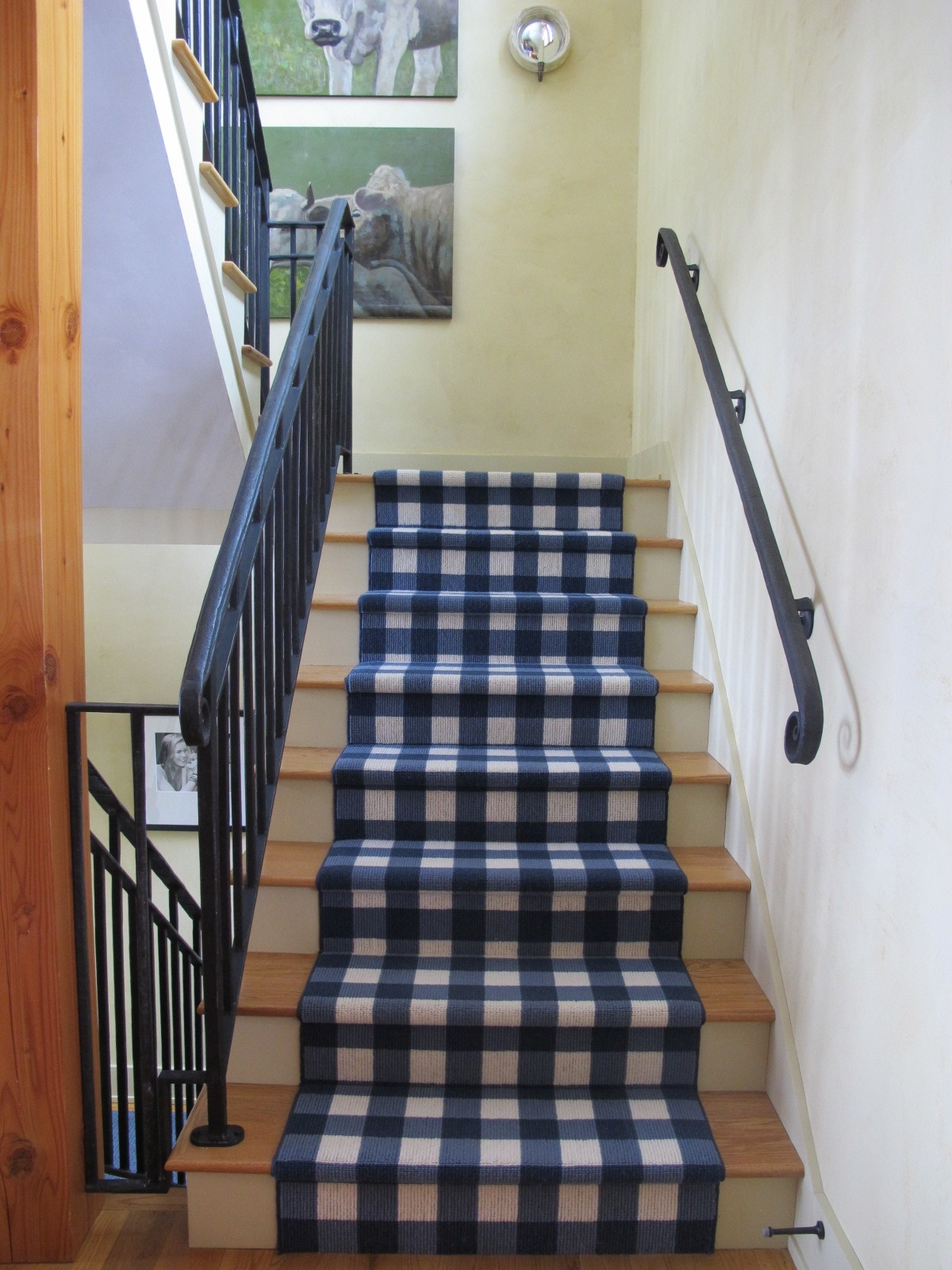 We finished this project a few years ago, but we still love this runner! Too bad  Karistan  doesn't sell it any more. We'd use it again.
