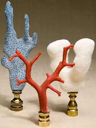 Last, but not least, these coral finials would be right at home by the sea!