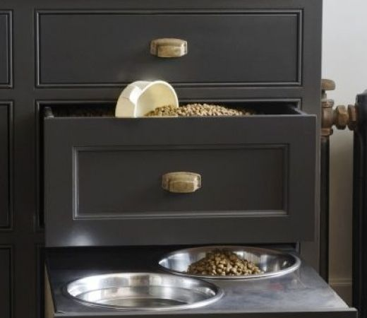 If Rex or Fifi are part of the family, maybe there is space in the kitchen for a food drawer!