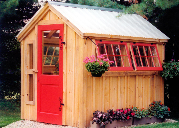 Another beauty from Jamaica Cottage Shops is this greenhouse.  Super cute!
