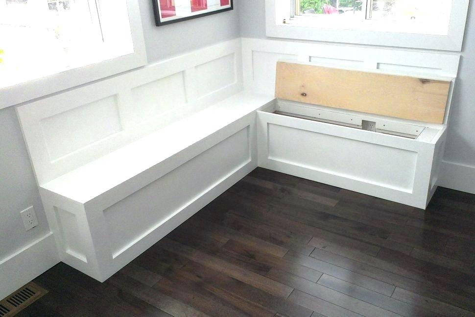 A white bench with hinged tops to ease open for storage opportunities from theathleticperformance.info .