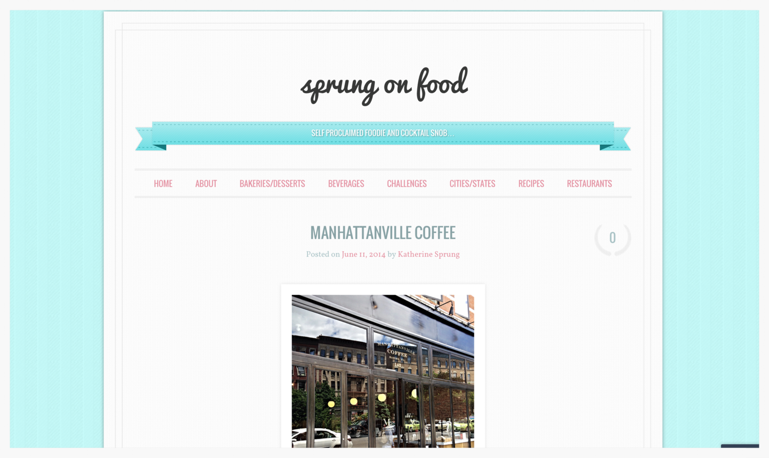 Manhattanville Coffee review by Sprung on Food
