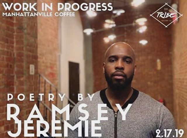This SUNDAY 2.17 - come check out @iamthealqemist during our once a month open mic night WORK IN PROGRESS presented by @thetribetheatreco! 🎤  #workinprogress #openmicnight #manhattanvillecoffee #harlem #newyorkcity #coffeeshop #poetry #music #openmic