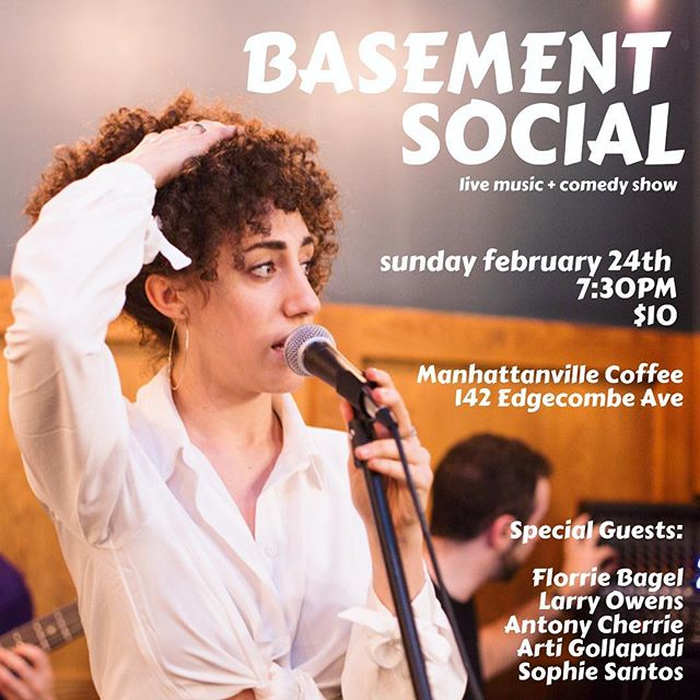 You better be at this show this Sunday 24th! It's gonna be awesome! And it will be here at Manhattanville Coffee! . Basement Social 2.24 - 7:30PM - $10 beer + wine + food provided all night . @larryowenslive