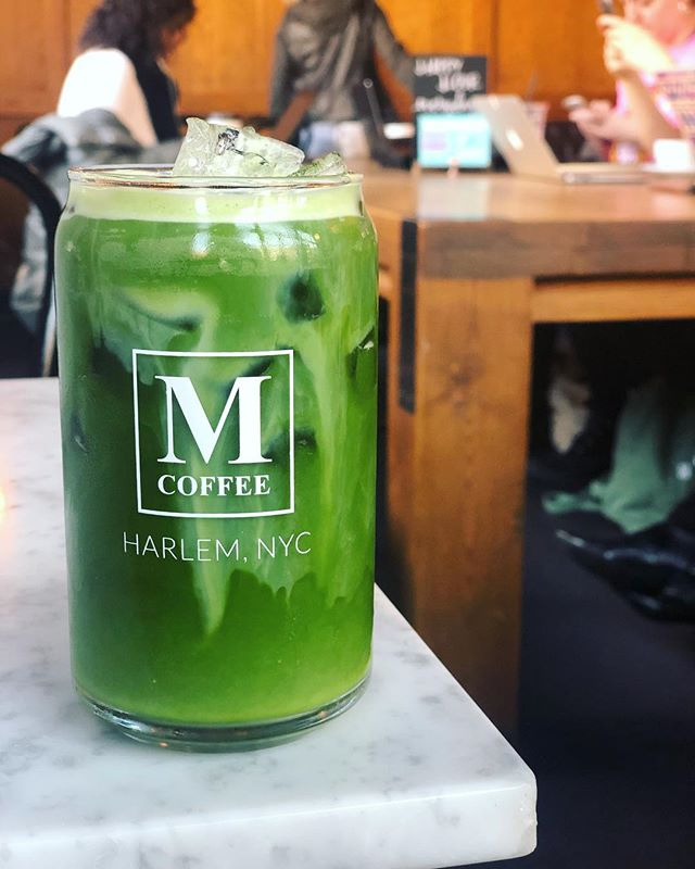 Coffee is not all we do.  Try our 100% organic, stone ground, Japanese iced matcha.  It's warming up outside, so come and get it! 🍵  And starting today we're open until 7pm everyday!! #manhattanvillecoffee #harlem #newyorkcity #hamiltonheights #coffeeshop #icedmatcha #matcha #matchatime #gogreen